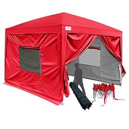 Quictent 2018 Upgraded 8x8 EZ Pop Up Canopy Gazebo Instant F
