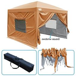 Quictent 2018 Upgraded Privacy 10x10 EZ Pop Up Canopy Tent I
