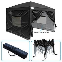 Quictent 2018 Upgraded Privacy 8x8 EZ Pop Up Canopy Party Te