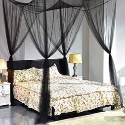 Super buy 4 Corner Post Bed Canopy Mosquito Net Full Queen K