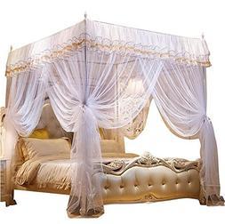 Nattey 4 Corner Poster Princess Bedding Curtain Canopy Mosqu