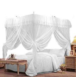 IFELES 4 Corners Bed Canopy Twin Full Queen King Mosquito Ne