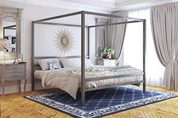 DHP 4073449 Modern Canopy Gunmetal Grey Metal, King Loft Bed