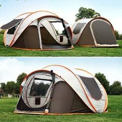 5-8 Persons Camping Tent Waterproof Auto Setup UV Sun Shelte