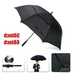62 ''/68''Oversize Sports Golf Umbrella Double Canopy Vented