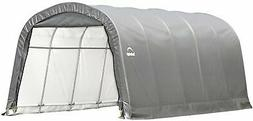 ShelterLogic Garage-in-a-Box Rountop, Grey, 12 x 20 x 8 ft.