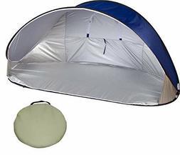 Trademark Innovations 7' Portable Pop-Up Wind & Sun Shelter