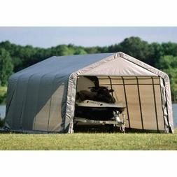 ShelterLogic 71434 Grey 12'x20'x8' Peak Style Shelter