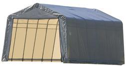 ShelterLogic 72434 Grey 12'x24'x8' Peak Style Shelter