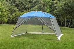 ALPHA CAMP Screen House Tent Easy Setup Canopy - 13'X9', Blu