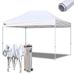 Eurmax 10x15 Ft Premium Ez Pop up Canopy Instant Shelter Out