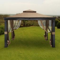 Garden Winds Tivering Two-Tiered Gazebo Replacement Canopy -