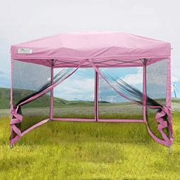 Quictent 10X10 Ez Pop up Canopy with Netting Screen House In
