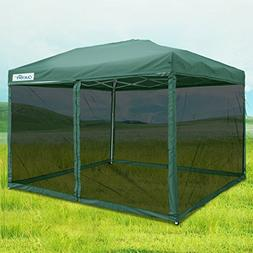 Quictent 10x10 Ez Pop up Screen Canopy Tent with Netting Scr