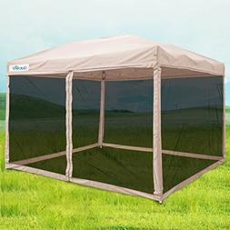 Quictent 8x8 Ez Pop up Canopy with Netting Instant Gazebo Me