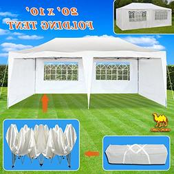 Strong Camel Ez POP up Wedding Party Tent 10'X20' Folding Ga