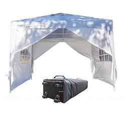 VINGLI 10' x 10' Ez Pop Up Canopy Tent with 4 Removable Side