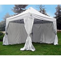 Undercover 10' X 10' Aluminum Commercial Pop-Up w/CRS Polyes