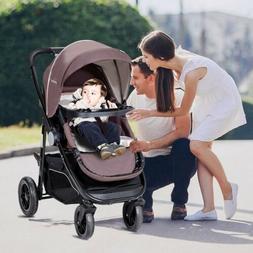 Aluminum Lightweight Foldable Baby Stroller Adjustable Canop