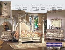 Inland Empire Furniture Arianna White Wash Cal King Canopy B