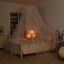 Bed Canopy with Fluorescent Stars Glow in Dark for Baby, Kid