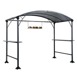 Abba Patio 9' x 5' Outdoor Backyard BBQ Grill Gazebo with St