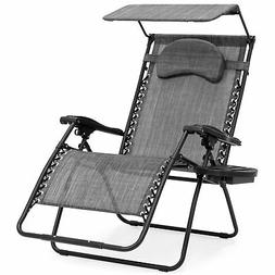 BCP Oversized Zero Gravity Reclining Patio Chairs w/ Canopy