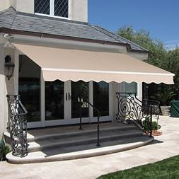 BCP Patio Manual Patio 8.2'x6.5' Retractable Deck Awning Sun