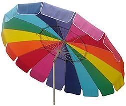 Impact Canopy 8' Beach Umbrella, UV Protected Vented Outdoor