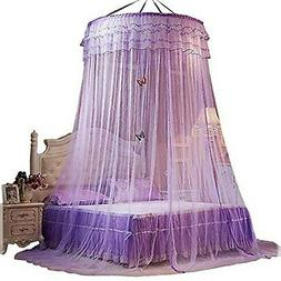 Bed Canopies Shelter for Girls Kids Bedroom Decorations Purp