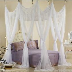 Bed canopy heavy netting curtain 8 door hook queen Californi