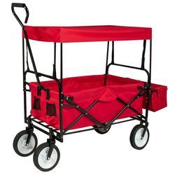Best Choice Folding Utility Cargo Wagon Cart Canopy For Beac