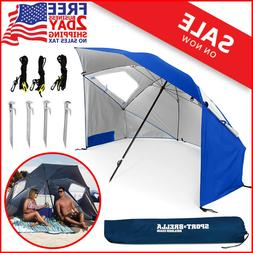 BEST HUGE Beach Umbrella Sun Tent Family Pool Camping Sports
