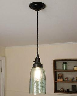 Black Ceiling Canopy Kit for Pendant Lamp Lights by CTW Home