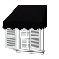 ALEKO 6x2 Black Window Awning Door Canopy 6-Foot Decorator A