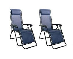 Caravan Canopy Blue Steel-frame Zero Gravity Chairs 80009000