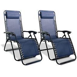 Caravan Canopy Blue Zero-Gravity Chairs