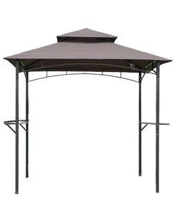 Brown 8'x 5'BBQ Grill Gazebo Barbecue Canopy BBQ Grill Tent