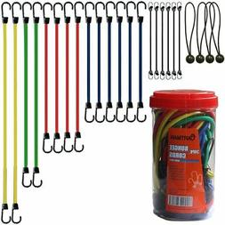Cartman Bungee Cords Assortment Jar 24 Piece in Jar New