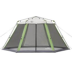COLEMAN Camping Instant Screened Canopy Tent Shelter w/ Carr