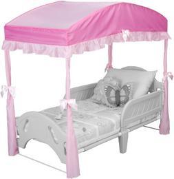 Delta Children's Girls Canopy for Toddler Bed, Pink Color: P