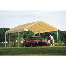 ShelterLogic 12 x 26- Feet Canopy 2- Inch 5-Rib Frame, Tan C