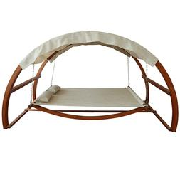 Canopy Covered Hammock Outdoor Double Bed Swing Yard Patio G
