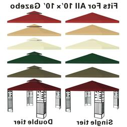 Canopy Replacement Top 10'x10' Patio Pavilion Gazebo Sunshad