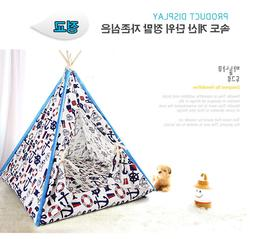 Canopy Teepee Indian Tent Bed for Dog Cat Small Animal Pet w