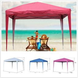Canopy Tent 10'X10'Pop Up Beach Gazebo Party Shade Foldable
