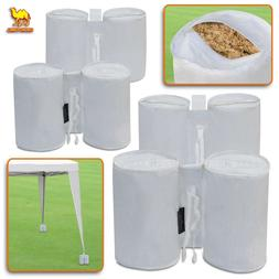 4X Pop Up Canopy Tent Weight Bags Sand Leg Anchor Kit White