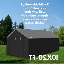 Caravan Canopy 10x20' Portable Shelter Steel Enclosure Side