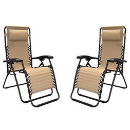 Caravan Sports - Two Pieces Infinity Zero Gravity Chair, Bei