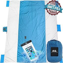 Chillax WellaX Outdoor Camping Blanket - Huge 9' x 10' for 7